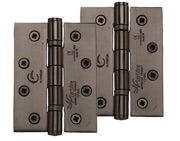 M Marcus 4 Inch Stainless Steel Line Ball Bearing Hinge, Matt Bronze - SS-4X3-MB (sold in pairs)