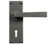 Stonebridge Arundel Door Handles, Armor-Coat Satin Steel - SB-FB1124 (Sold In Pairs)