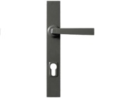 Stonebridge Arundel Multipoint Door Handles (250mm Backplate - 92mm C/C), Armor-Coat Satin Steel - SS632 (Sold In Pairs)