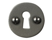 Stonebridge Standard Profile Round Escutcheon, Armour-Coat Satin Steel - SS713