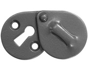 Stonebridge Standard Profile Oval Escutcheon With Cover, Armor-Coat Satin Steel - SS716