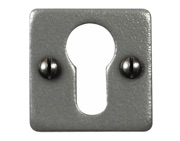 Stonebridge Euro Profile Square Escutcheon, Armor-Coat Satin Steel - SS718