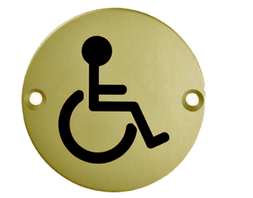 'Disabled Symbol', Polished Brass - SSD