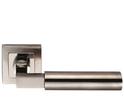 Eurospec Fagus Square Mitred Stainless Steel Door Handles - Satin Stainless Steel - SSL1406DUO (sold in pairs)