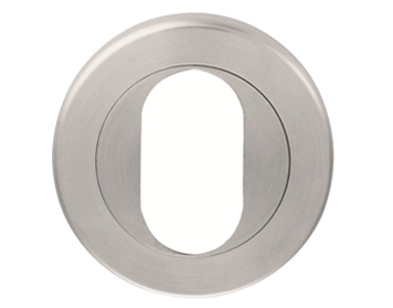 Eurospec Oval Profile Escutcheon, Polished OR Satin Stainless Steel - SW104