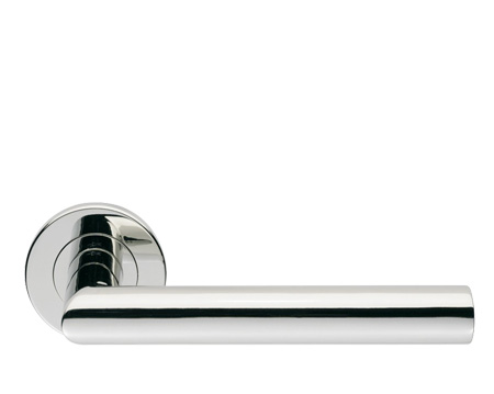 Eurospec Mitred Polished Stainless Steel Or Satin Stainless Steel Door Handles - SW13 (sold in pairs)