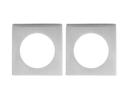 Eurospec Steelworx Square Rose (52mm x 52mm x 7mm), Polished Or Satin Finish - SWR1137