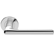 Carlisle Brass Serozzetta Uno Door Handles On Round Rose, Satin Chrome Or Polished Chrome - SZC010 (sold in pairs)