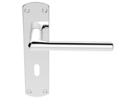 Carlisle Brass Serozzetta Uno Door Handles On Backplate, Polished Chrome - SZC011CP (sold in pairs)