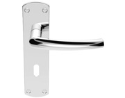 Carlisle Brass Serozzetta Dos Door Handles On Backplate, Polished Chrome - SZC021CP (sold in pairs)