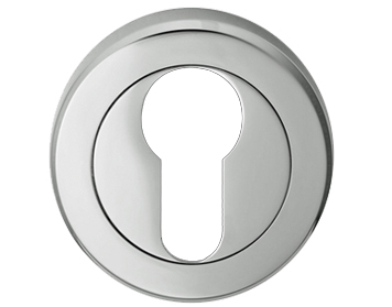 Carlisle Brass Serozzetta Euro Profile Escutcheons, Polished Chrome Or Satin Chrome - SZM001
