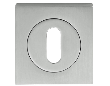 Carlisle Brass Serozzetta Square Standard Profile Escutcheons, Polished Chrome Or Satin Chrome - SZM003SQ