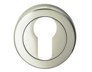 Carlisle Brass Serozzetta Residential Euro Profile Escutcheons, Polished Nickel Or Satin Nickel - SZR001