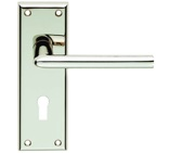 Carlisle Brass Serozzetta Residential Dieci Door Handles On Backplate, Polished Nickel - SZR011PN (sold in pairs)
