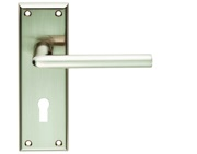 Carlisle Brass Serozzetta Residential Dieci Door Handles On Backplate, Satin Nickel - SZR011SN (sold in pairs)