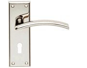 Carlisle Brass Serozzetta Residential Trenta Door Handles On Backplate, Polished Nickel - SZR031PN (sold in pairs)