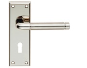 Carlisle Brass Serozzetta Residential Quaranta Door Handles On Backplate, Dual Finish Polished Nickel & Satin Nickel - SZR041PNSN (sold in pairs)