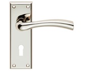 Carlisle Brass Serozzetta Residential Cinquanta Door Handles On Backplate, Polished Nickel - SZR051PN (sold in pairs)