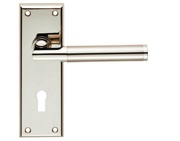 Carlisle Brass Serozzetta Residential Sessanta Door Handles On Backplate, Dual Finish Polished Nickel & Satin Nickel - SZR061PNSN (sold in pairs)