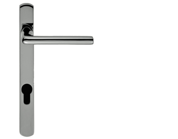 Carlisle Brass Rosa Narrow Plate, 92mm C/C, Euro Lock, Polished Chrome Or Satin Chrome Door Handles - SZS01NP92 (sold in pairs)