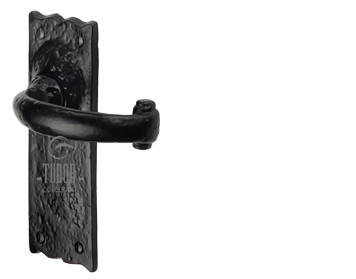 M Marcus Tudor Collection Colonial Door Handles, Rustic Black Iron - TC310 (sold in pairs)