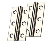 Zoo Hardware Top Drawer Fittings Cabinet Hinges (Various Sizes), Polished Nickel - TDF100PN