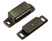Zoo Hardware Top Drawer Fittings Magnetic Catch, Bronze - TDFMC1BZ