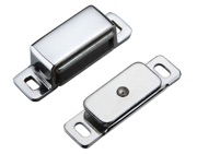 Zoo Hardware Top Drawer Fittings Magnetic Catch, Polished Chrome - TDFMC1CP