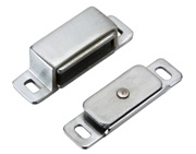 Zoo Hardware Top Drawer Fittings Magnetic Catch, Satin Chrome - TDFMC1SC
