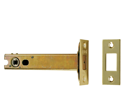 Eurospec 'Architectural' 3, 4 & 5 Inch Tubular Deadbolts - Silver Or Brass Finish - TLD50