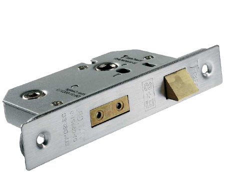 Eurospec Universal Replacement Bathroom Sashlock, Satin Stainless Steel OR PVD Stainless Brass - URBS5025