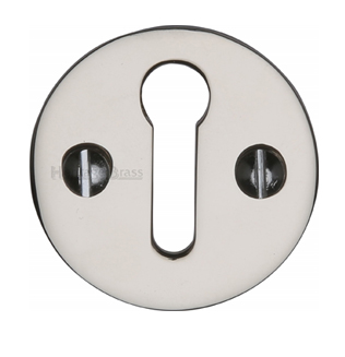 Heritage Brass 'Standard' Key Escutcheon, Polished Nickel - V1010-PNF