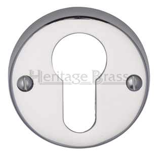 Heritage Brass 'Euro Profile' Key Escutcheon, Polished Chrome - V1012-PC