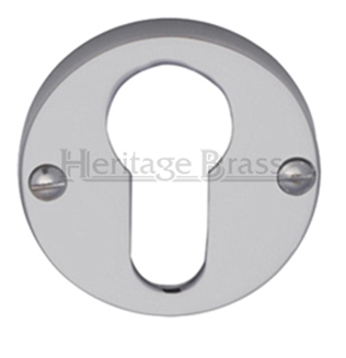 Heritage Brass 'Euro Profile' Key Escutcheon, Satin Chrome - V1012-SC