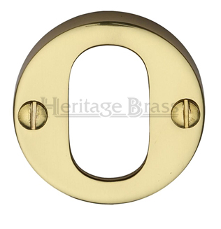 Heritage Brass 'Oval Profile' Key Escutcheon, Polished Brass - V1013-PB