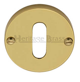 Heritage Brass 'Standard' Key Escutcheon, Polished Brass - V1014-PB