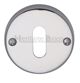 Heritage Brass 'Standard' Key Escutcheon, Polished Chrome - V1014-PC
