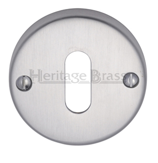 Heritage Brass 'Standard' Key Escutcheon, Satin Chrome - V1014-SC