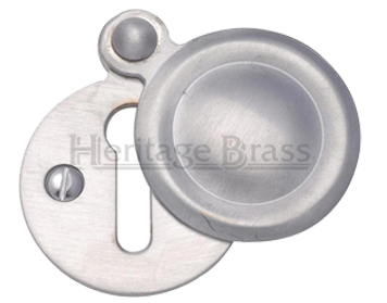 Heritage Brass 'Standard' Round Covered Key Escutcheon, Satin Chrome - V1020-SC