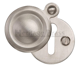 Heritage Brass 'Standard' Round Covered Key Escutcheon, Satin Nickel - V1020-SN