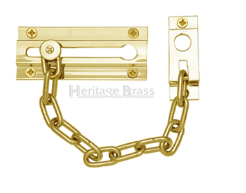 Heritage Brass Door Chain (100mm), Polished Brass - V1070-PB