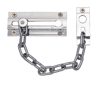 Heritage Brass Door Chain (100mm), Polished Chrome - V1070-PC