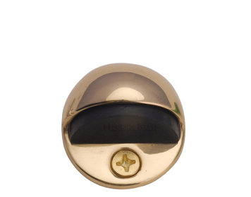 Heritage Brass Oval Floor Mounted Door Stop (47mm Diameter), Polished Brass    V1080