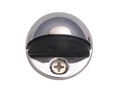 Heritage Brass Oval Floor Mounted Door Stop 47mm Diameter