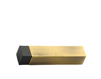 Heritage Brass Square Wall Mounted Door Stop Without Rose (76mm), Antique Brass - V1084-AT
