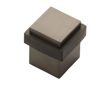 Heritage Brass Square Floor Mounted Door Stop (30mm X 30mm), Matt Bronze