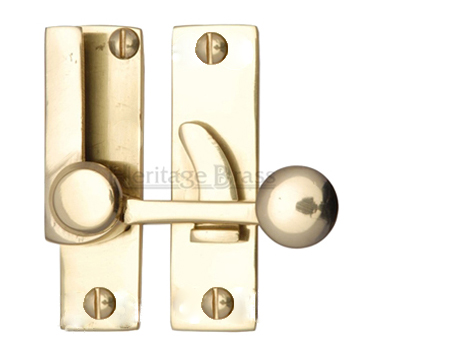 Heritage Brass Sash Fastener (69mm x 20mm), Polished Brass - V1100-PB