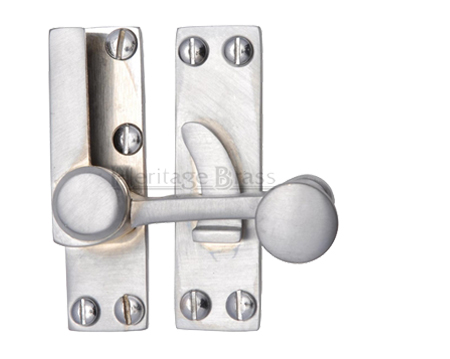 Heritage Brass Sash Fastener (69mm x 20mm), Satin Chrome - V1100-SC