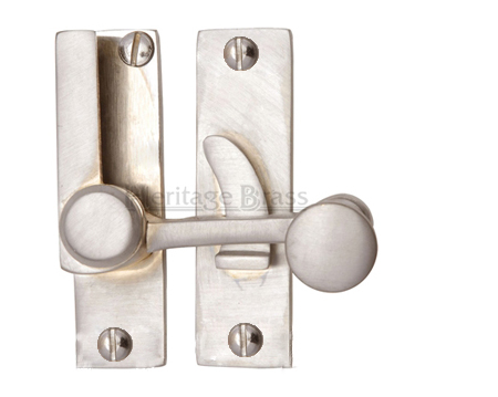 Heritage Brass Sash Fastener (69mm x 20mm), Satin Nickel - V1100-SN