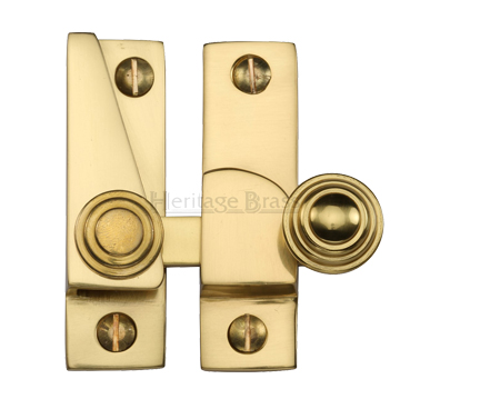 Heritage Brass Hook Plate Sash Fastener (69mm x 20mm), Polished Brass - V1104-PB